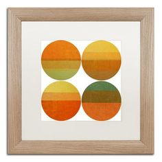 "Trademark Art ""Four Suns"" by Michelle Calkins Framed Painting Print Size: 1"