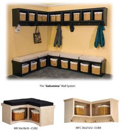Hallway coat rack bench combo t with mud room entry contemporary boots built in storage racks Brown Furniture, Bar Furniture, Furniture Companies, Coat Rack Bench, Cubby Bench, Coat Racks, Hallway Coat Rack, Backpack Storage, Backpack Hanger