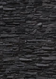 Pin example of a stone feature wall. The stone has been custom made into thin rectangular tiles with each one having their own texture. This works well in the design as the textures contrast making it look nice to look at Photoshop, Ceiling Texture Types, Brick Texture, Stone Texture Wall, Floor Texture, Tiles Texture, Texture Design, Stone Wallpaper, Black Brick Wallpaper