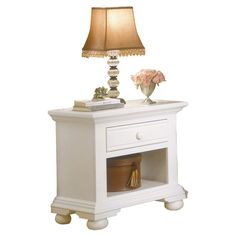 Found it at Wayfair - Cottage 1 Drawer Nightstand in White