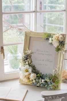 """サムシングブルーをさりげなく。 : 【ほんとうに可愛い!】結婚式の参考に""""ウェルカムボード""""ウェディングver.まとめ♪ - NAVER まとめ"""