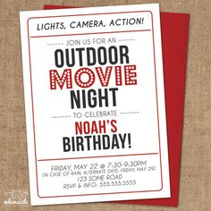 How to host a summer outdoor movie night for the whole neighborhood movie night invitation diy printable outdoor backyard movie theater birthday filmwisefo