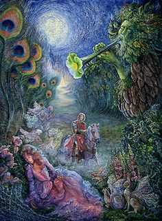 Enchanted Forest by Artist Josephine Wall. Josephine Wall, Fantasy Paintings, Fantasy Art, Fantasy Images, Beautiful Artwork, Cool Artwork, Art Expo, Enchanted Fairies, Fairy Coloring