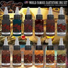 World Famous Ink - Earthtone Set  #tattoo #tattooink #tattoosupply #tattoosuppliers #shoponline #worldfamousink #wheretobuy #wheretostart #best #quality #ink #getink #getinked #veganfriendly #vegan #tattooaddict