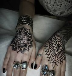 Tribal Hand Tattoos for Girls