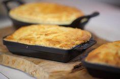 Cornbread-crusted one-skillet sausage pie