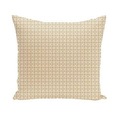 E by Design Honeycomb Decorative Pillow Ivory / Beige Polyester - PGN119IV3TA6-16