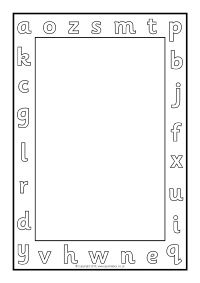 Alphabet A4 Page Borders - Black and White (SB11409) - SparkleBox