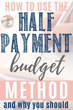 Half Payment Budget Method - It's a Southern Life Y'all - Finance tips, saving money, budgeting planner Financial Peace, Financial Tips, Financial Planning, Financial Literacy, Budgeting Finances, Budgeting Tips, Money Tips, Money Saving Tips, Saving Ideas