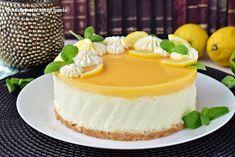 Bon appetit mon amie: Cytrynowy sernik na zimno Bon Appetit, Cheesecake, Desserts, Food, Tailgate Desserts, Deserts, Cheesecakes, Essen, Postres