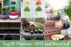 """Real """"nifty"""" planters right from your own home! If you scroll through the entire sight you'll see the rain boots - those are my favorite..."""