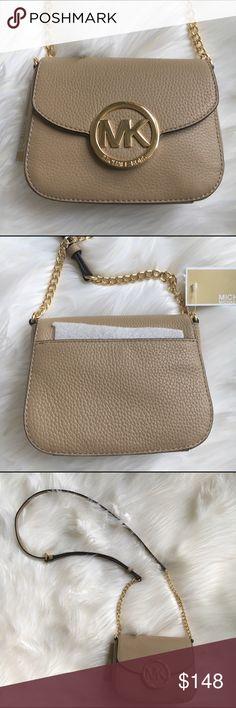 MICHAEL KORS cross body purse Dark camel leather cross body purse  with gold tone hardware by Michael Kors . New! Authentic 🚫trades Michael Kors Bags Crossbody Bags