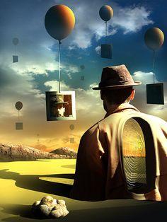 Espelhos.  Digital Art  Surrealism Art Ed Central loves!