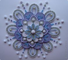 *QUILLING ~ Painting mural drawing Quilling I make a small portion of the joys of Christmas Photo Paper 1
