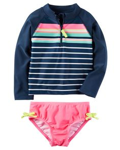 Carter's Striped Rashguard Set from Carters.com. Shop clothing & accessories from a trusted name in kids, toddlers, and baby clothes.