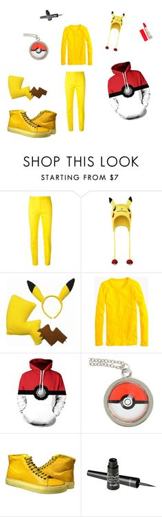 """Pikachu Outfit"" by mercyblood on Polyvore featuring Dsquared2, J.Crew and Barry M"