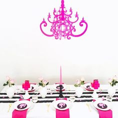 I'm still swooning over @celebrationstylist Barbie Party using our Hot Pink Chandelier. There's something about pops of pink that just #sparkle 🎀💝#makeyousmilestyle #sobestfriendsforfrosting #thatsdarling #barbiestyle #barbieparty #mypartystyle #partydecor #partyideasgroup #pinkparty #partystyling #partystylist #kidspartyideas #kidspartydecor #ihavethisthingwithpink #funforkids #theeverygirl #glitterguide #bandofun #acolorstory #candycolors #tabledecor #tablesetting