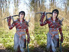 https://flic.kr/p/Fynovm | We do a lot of walking, don't we? | Photographer: M&M Photographic www.facebook.com/MM-PhotoGraphic-192194530904790  Edit by me  Me (www.facebook.com/DarkWingTira / www.drosseltira.deviantart.com ) as Marian Hawke from Dragon Age II   #da #daii #da2 #rogue #thief #mantle #champion #kirkwall #fem #garrett #armor #costume #cosplay #outfit #suit #finesse #spider #heart #bioware #cosplayer #inquisition