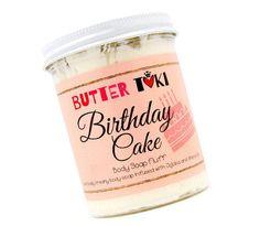 LET 'EM EAT Cake Whipped Body Soap Fluff - Almond Soap - Cherry Soap - Whipped Soap - Cream Soap