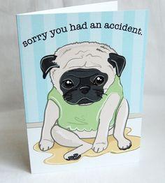 Pee Pug Greeting Card