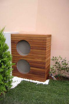 Air Conditioner Cover Outdoor, Air Conditioner Screen, Small Balcony Design, Back Garden Design, Ideas Terraza, Ac Cover, House Tweaking, Outdoor Living, Outdoor Decor
