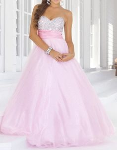 Elegant Strapless Sleeveless Spliced Sequins Embellished Prom Dress For Women Cute Maxi Dress, Cheap Maxi Dresses, Pink Prom Dresses, Tulle Prom Dress, Striped Maxi Dresses, Dance Dresses, Cute Dresses, Strapless Dress Formal, Dresses 2014