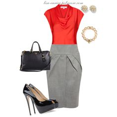"""Tulip Skirt - Work Chic"" by lisa-eurica on Polyvore"