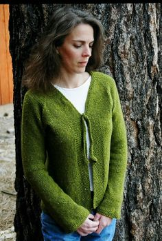 Knitting Pure and Simple--Diane Soucy--Neckdown V Neck Shaped Cardigan-- I use a lot of her patterns