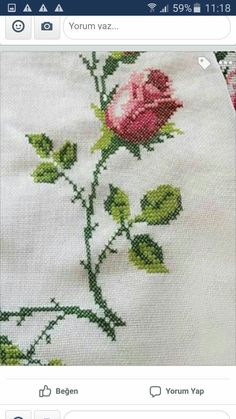 Crochet, Decor, Cross Stitch Rose, Embroidered Clothes, Towel, Cross Stitch Designs, Dots, Needlepoint, Blue