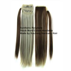 Stock more different colors synthetic ponytails available. Synthetic Hair Extensions, Synthetic Wigs, Marley Braids, Curly Ponytail, Ponytail Extension, Jumbo Braids, Ombre Color, Blonde Ombre, Hair Weft