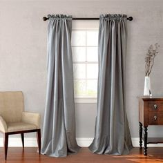 Azure Heritage Curtain Panel Available In 6 Color Choices