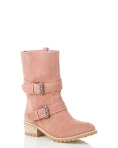 Pink suede boots, totally impractical but lovely! Pretty In Pink, Shoe Closet, Shoe Bag, Looks Style, My Style, Pink Boots, Cute Boots, Boutique, Me Too Shoes