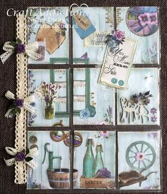 Pocket Pal, Pocket Cards, Scrapbook Paper Flowers, Art Trading Cards, Pocket Letters, Mail Art, Journal Cards, Copic, Provence