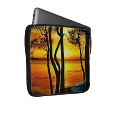Hot Sunset Laptop Computer Sleeves - wonderful and stunning photography on laptop sleeves - great for Christmas :)