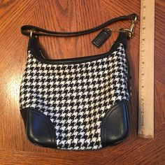 "Cute Coach houndstooth purse In new condition. 7"" tall, 8 1/2 "" wide, 4"" deep Coach Bags"