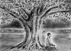 Shakyamuni bajo el árbol Bodhi