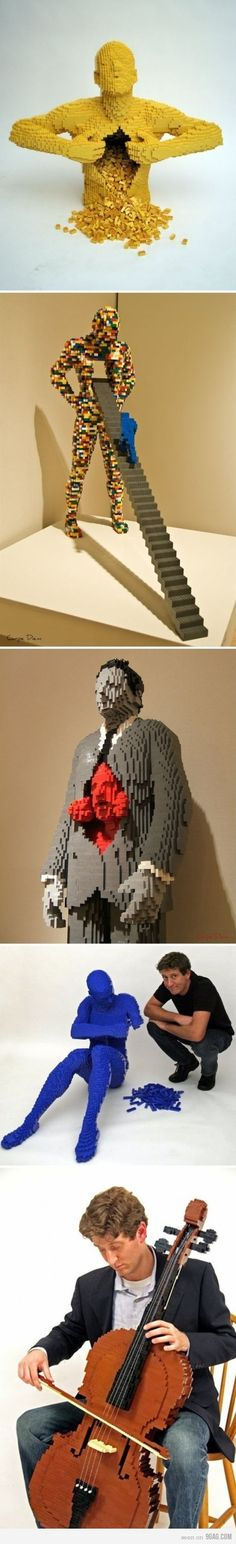 A NYC attorney turned artist built all of these out of Legos. So cool! At the Morris museum in morristown until February 20.