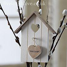 Welcome Hanging Bird House Plaque
