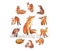 Fox Print, 8x10 print, fox art, fox lover gift, fox painting, fox. $18.00, by…