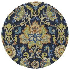 Bradley Green Floral Wool Hand-Tufted Area Rug