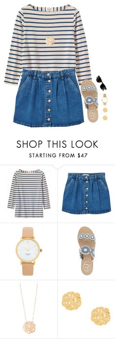 """im in tennessee right now!"" by preppy-ginger-girl ❤ liked on Polyvore featuring Toast, MANGO, Ray-Ban, Kate Spade, Jack Rogers, Ginette NY and BaubleBar"