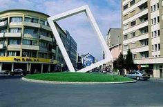 Rond-point à Annemasse, France