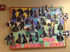 Life lessons from Disney RA bulletin board