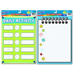 These Dry Erase Posters are great for organizing daily tasks with times and details!  Available exclusively at Dollar General for just $1!
