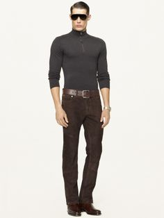 Ralph Lauren Black Label Suede Five-Pocket Jean - I want these too.  Again, no clue where I would wear them, but I love them.