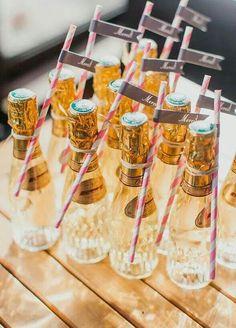 Mini champagne wedding favors