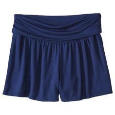 Xhilaration® Juniors Knit Roll Top Shorts - Assorted Colors