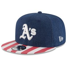 8099ba618bdb6 Men s Oakland Athletics New Era Navy Red Fully Flagged 9FIFTY Adjustable Hat