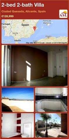 2-bed 2-bath Villa in Ciudad Quesada, Alicante, Spain ►€128,999 #PropertyForSaleInSpain