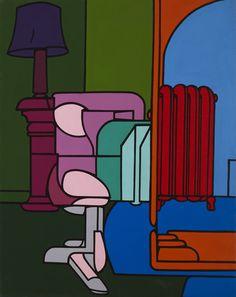 Valerio ADAMI - Figura in casa - Acrylique sur toile - 99 x 80 cm - 24.11.1969